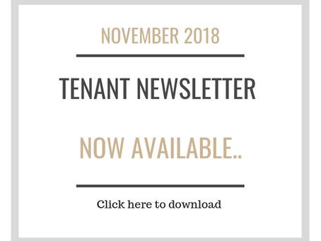 Tenant Newsletter- NOVEMBER 2018