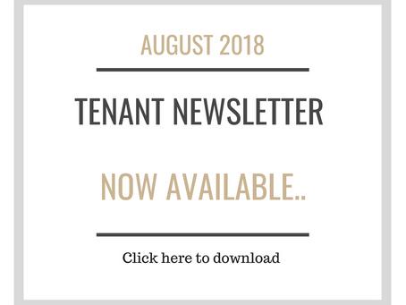 Tenant Newsletter- AUGUST 2018