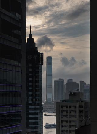 View of ICC, Hong Kong, Autumn 2018