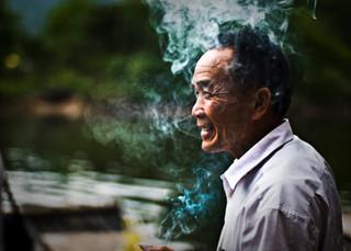 Boat owner, Guilin, 2010