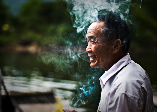 Boat owner, Guilin, 2010