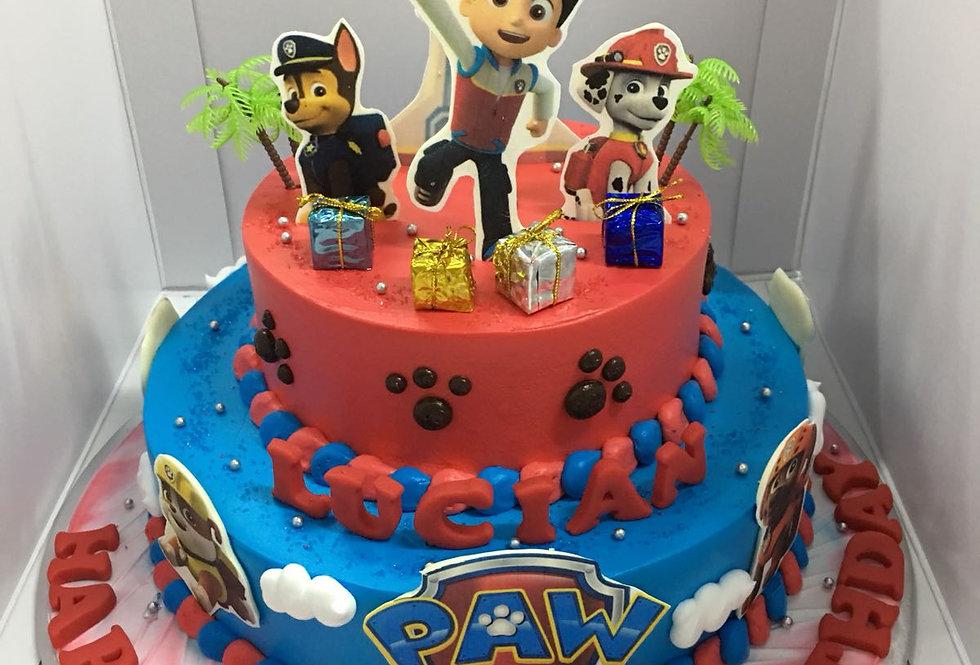 paw patrol(2 tiers) cake