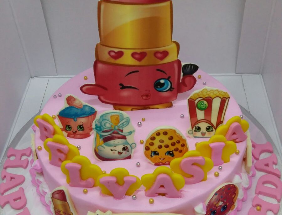 shopkins pinky cake