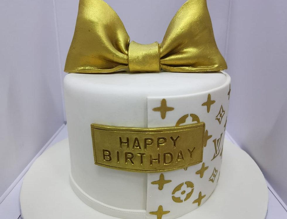 LV FONDANT CAKE