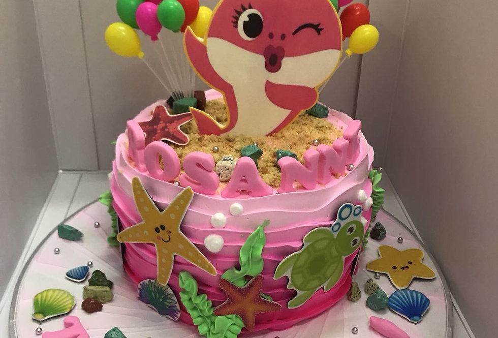 pinky baby shark cake
