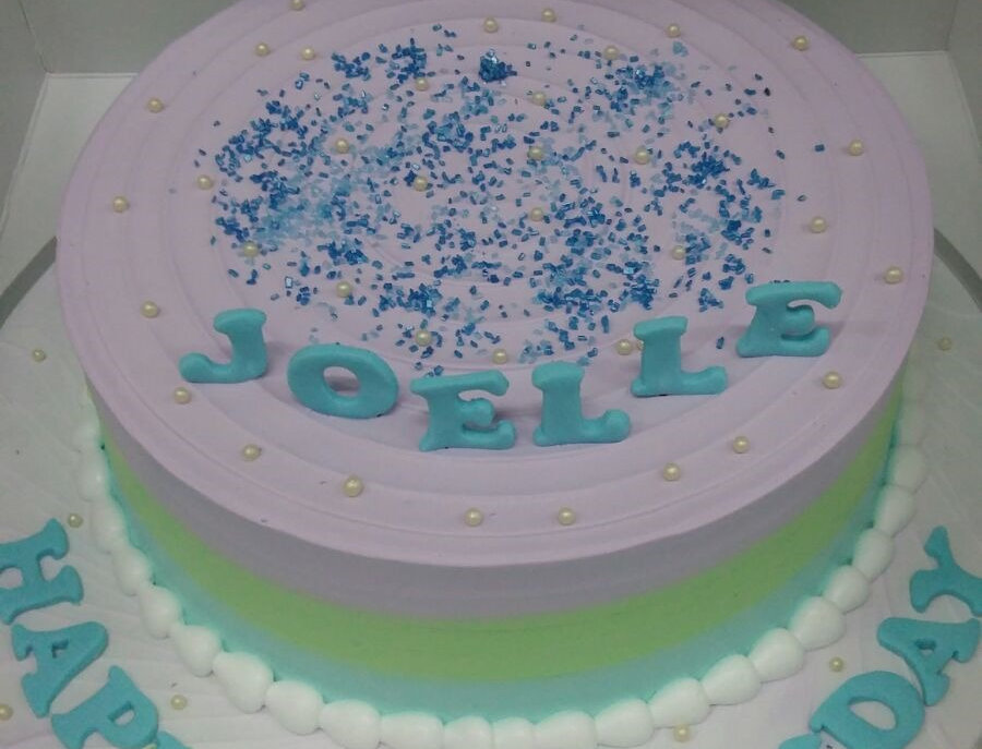 pastel ombre cake