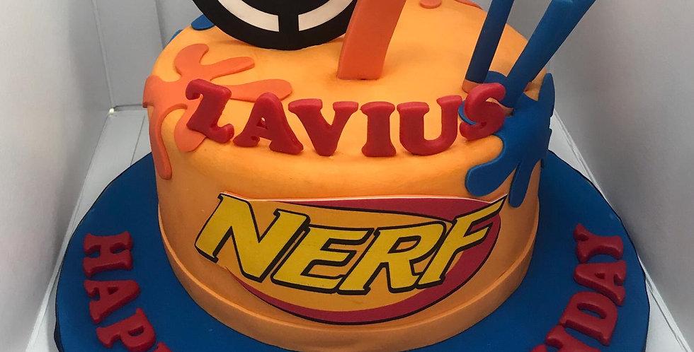 FONDANT NERF GUN CAKE