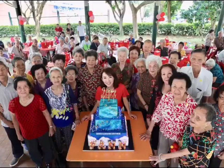 Fann Wong celebrates with Elderly