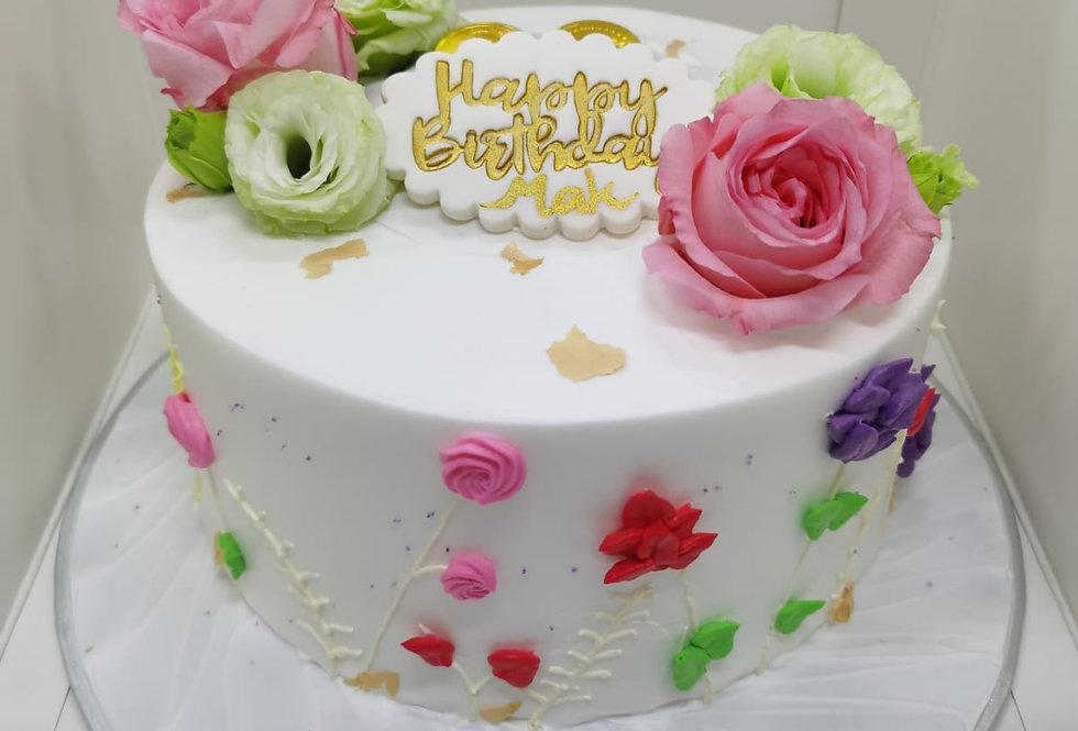 FLOWER MONEY PULLING CAKE