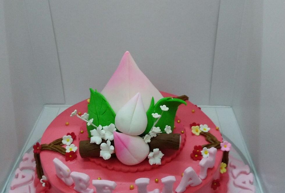 BIG PEACH LONGEVITY CAKE