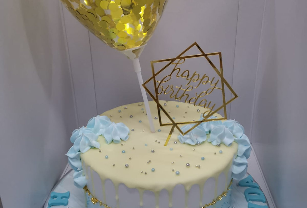 cute balloon cake