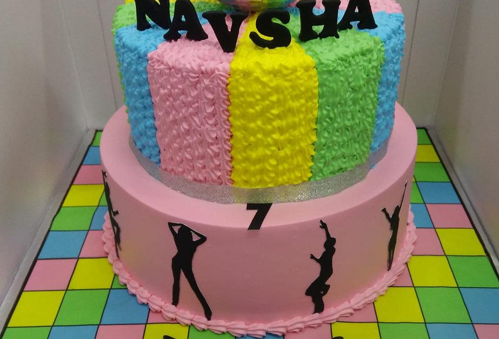 2 tier retro cake