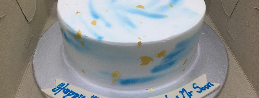 WATER COLOUR BLUEY CAKE