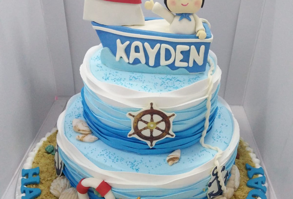 3d nautical cake