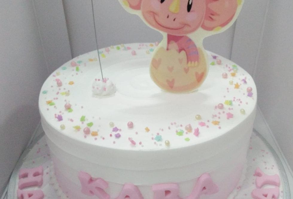 pinky dinosaur cake