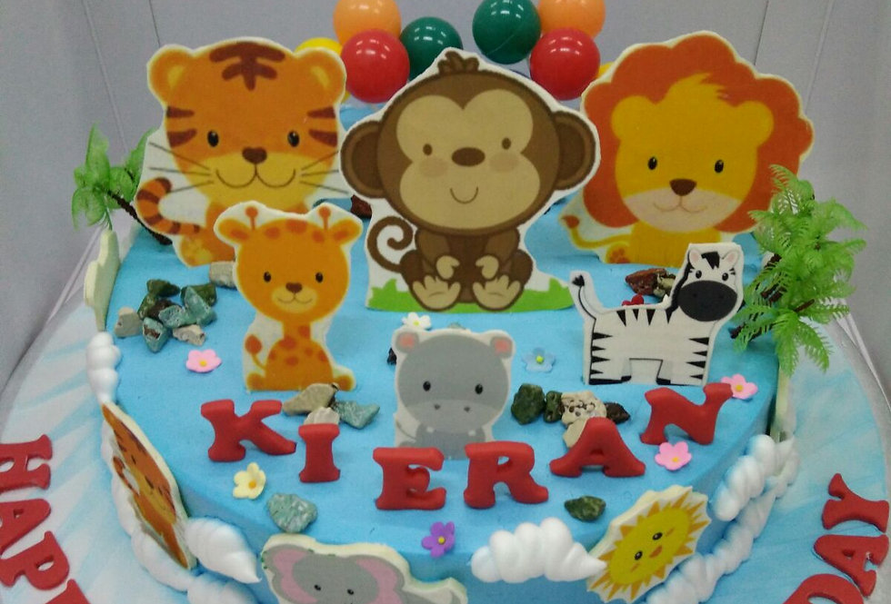 cute animals cake