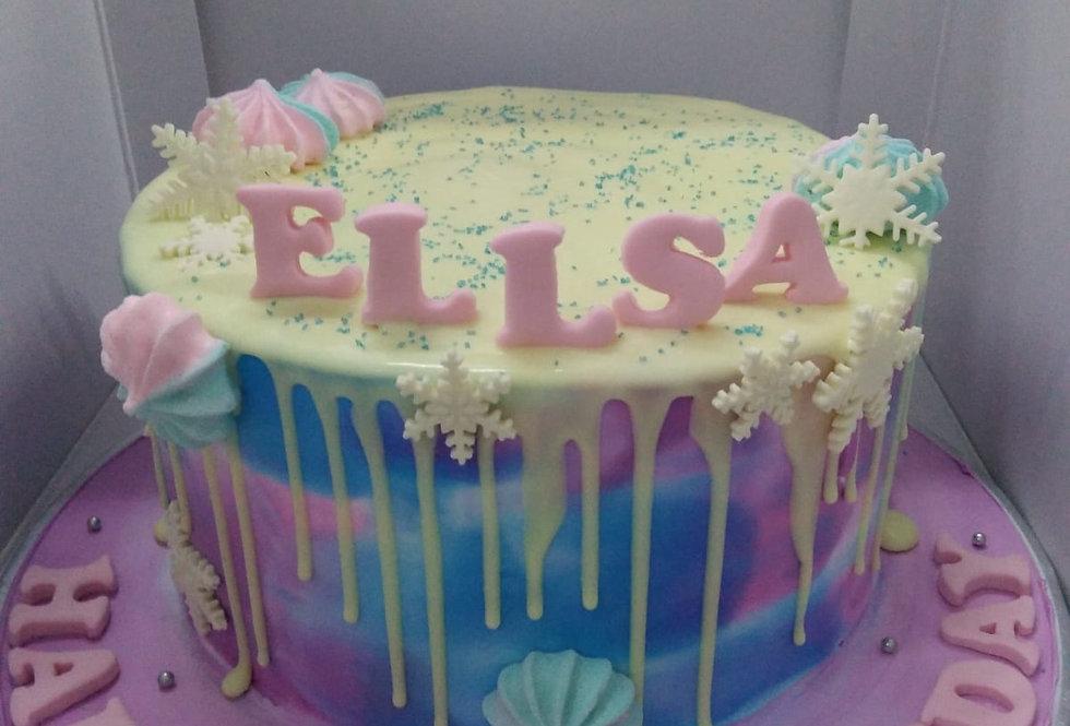 galaxy drizzle cake