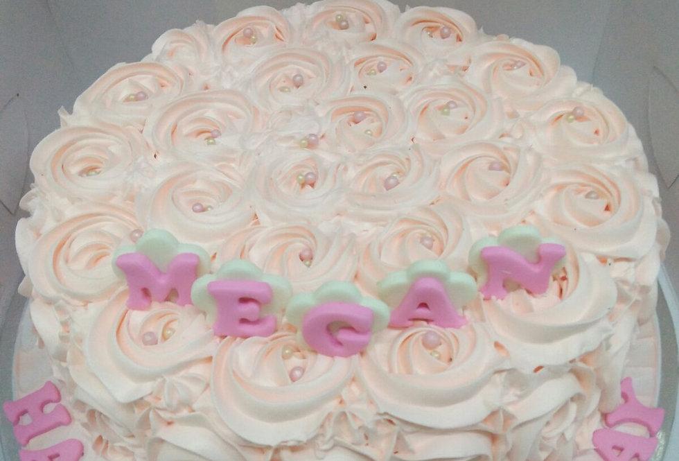 sweet flower rosette cake