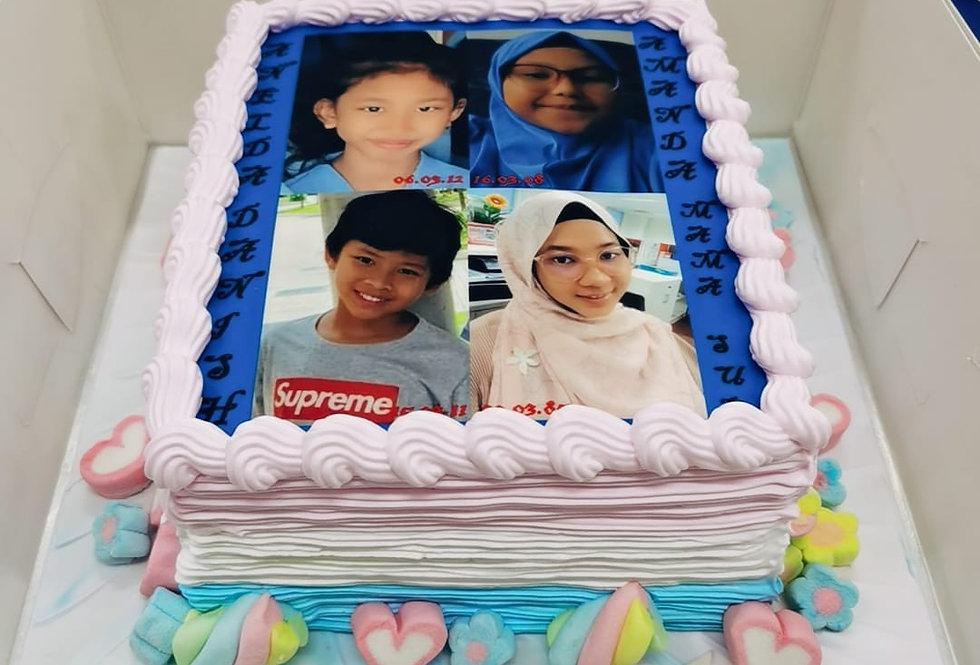 FLAT IMAGE PHOTO CAKE