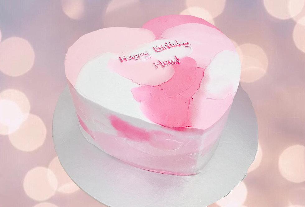 3 TONES HEART SHAPE CAKE