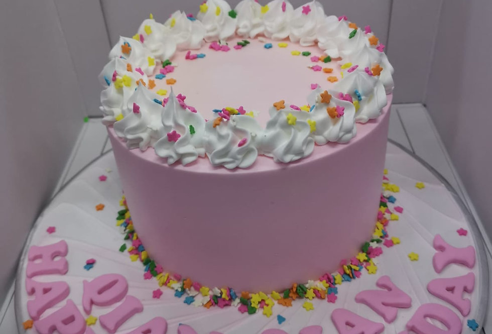 colourful starpinky cake