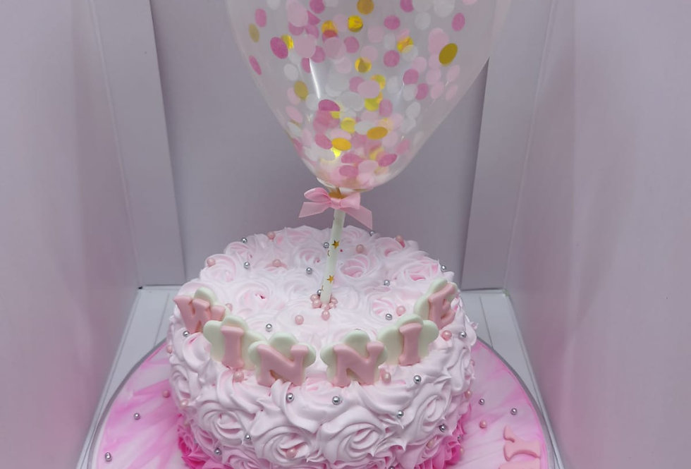 pinky balloon cake