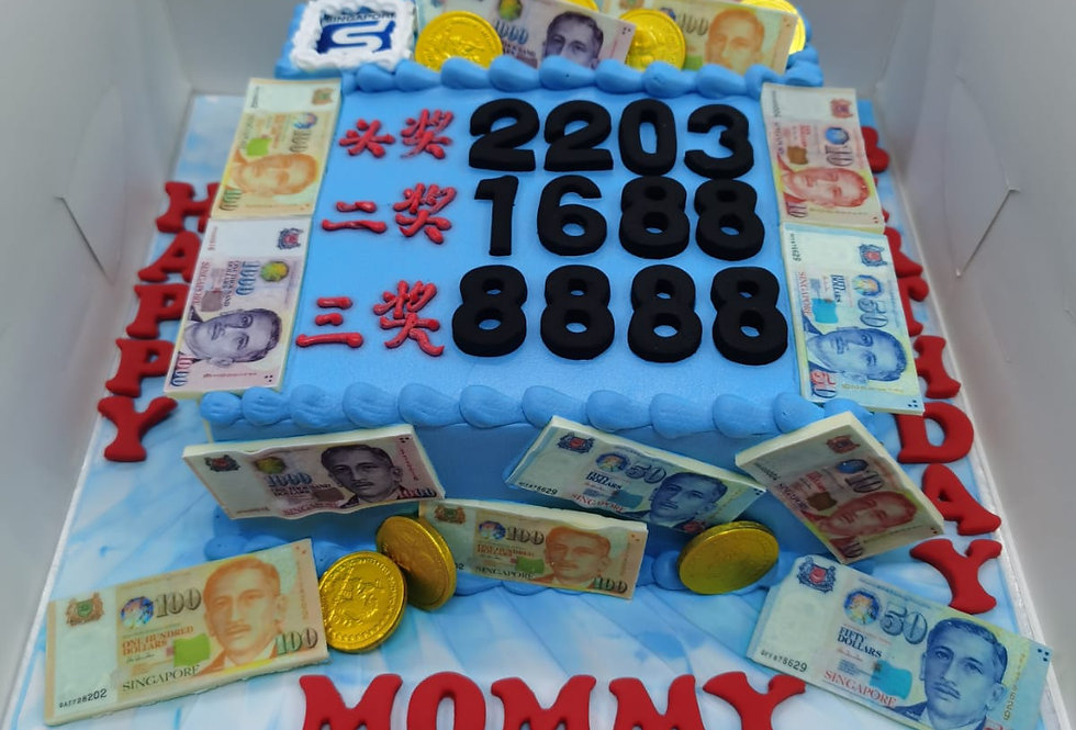 SMALL FONDANT 4D NUMBER CAKE