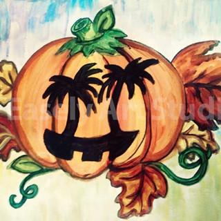 Hawaiian Jack-O-Lantern