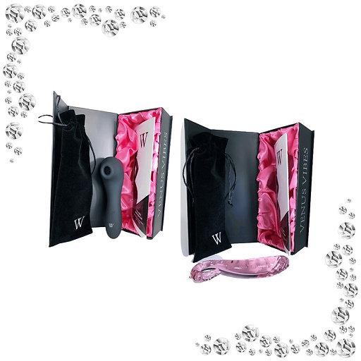 Drusilla Magic Tongue Vibrator X Juno - Iconic Transparent Glass Dildo,Anal Plug