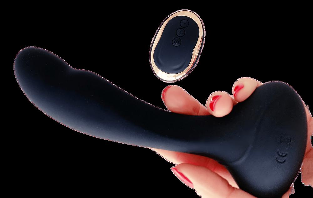 Remote vibrator, dildo, vibrating dildo, remote dildo