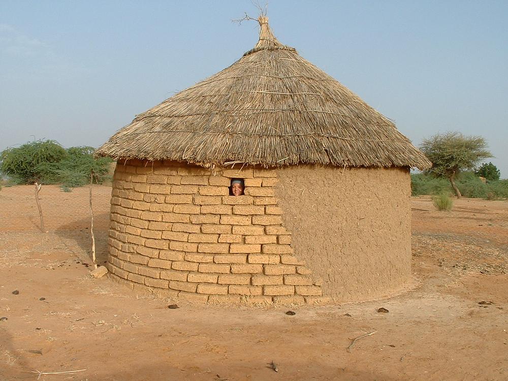 Mudbrick Hut in Burkina Faso