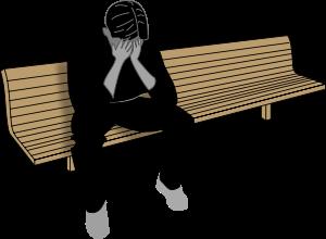 Depression, distraught person