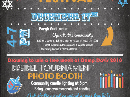 Gordon JCC Hanukkah Festival set for December 17th