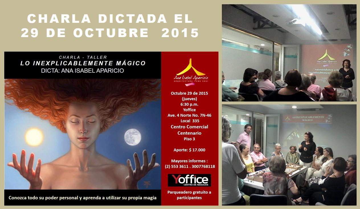 Charla dictada Inexplic magico 29 Oct 2015