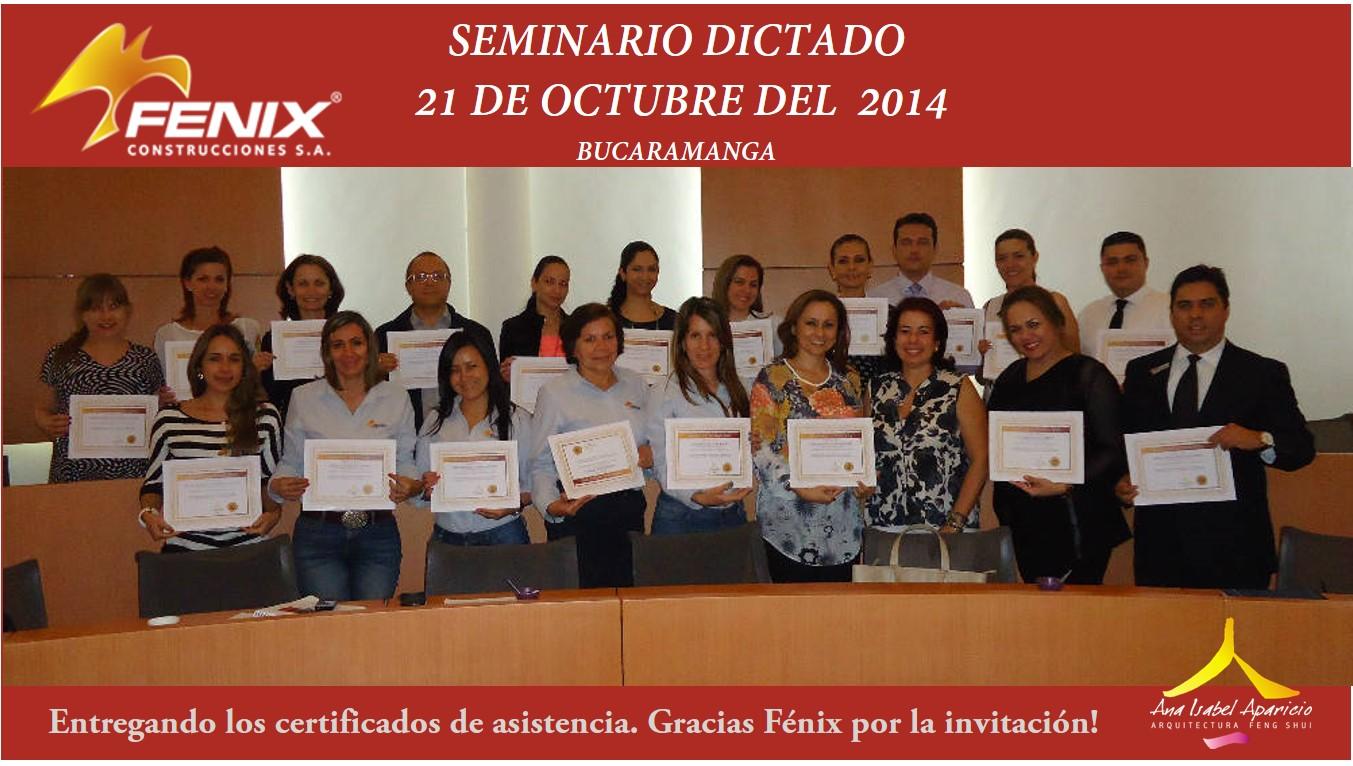 Seminario dictado Fenix Construcciones Bucaramanga
