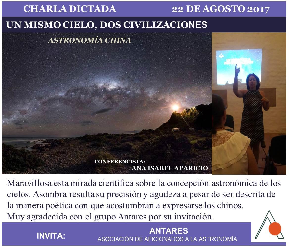 CHARLA DICTADA ANTARES
