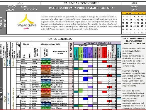Calendario Tong Shu semestral