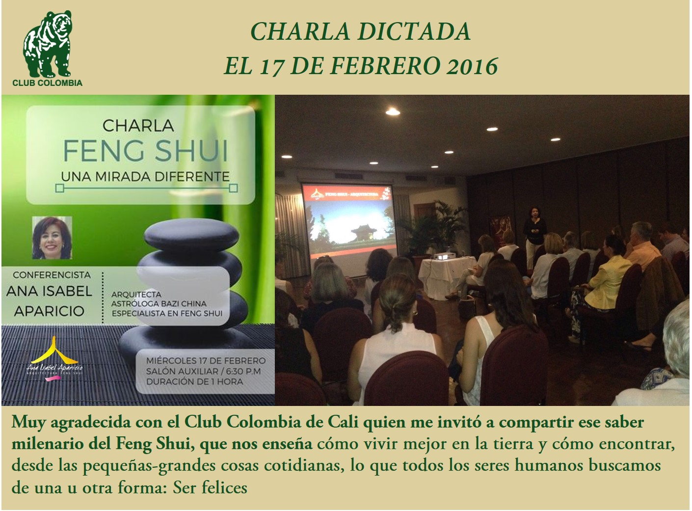 charla dictada Feng Shui club colombia