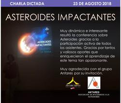 Charla dictada Asteroides 2018