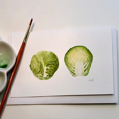 Brussel Sprout Card A6