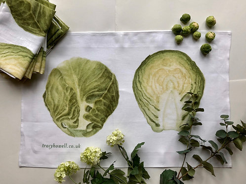 Brussel Sprout Tea Towel