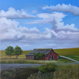 'End of Summer' $200.00 CND 12X12 oil on gallery wrapped canvas At summers end when the  farmers are starting to bring in the hay, its the most delicious time of year. The sun is still bright ,the fields have turned  golden and I want to soak up every moment knowing winter is just around the corner.