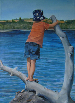 'Vantage Point'  $250.00 CDN unframed 12X16 oil on stretched canvas  I choose this title as I was meditating on Psalm 121.  I will lift up my eyes unto the hills ,from where my help comes from. My help comes from the Lord ,maker of heaven and earth