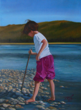 '90's Child' $250.00 CND unframed 12X16 Oil on canvas  Summer Days on the Peace River Psalm 25:4