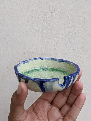 Green Blue Ashtray