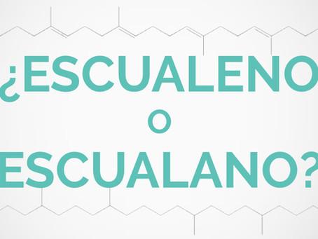 ¿Escualeno o escualano?