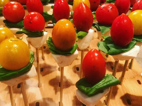 Balsamic injected Caprese Bites_____ #privatechef #chef #mammothcatering #caprese #catering #mammoth #mammothstories