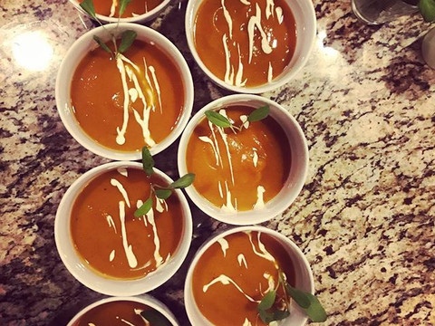 Butternut Squash Soup_•_•_#mammothcatering #privatechef #catering #mammoth #mammothlakes #mammothstories #butternutsquash
