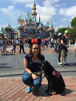 Fleur and Emma at Disneyland