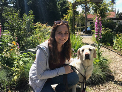 Trusting her health to the paws of a dog, Lauren & Ricki